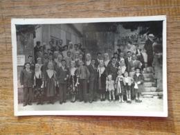 Assez Rare Carte Photo D'une Cérémonie En Bretagne , En Costume D'époque - Bretagne