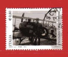 Italia- °- 2015 - Centenario Della Prima GUERRA MONDIALE. ( Francesco Baracca ) - Unif. 3631.  Usato. - 1946-.. République