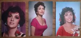 Lot De 3 Cartes Postales / Gina LOLLOBRIGIDA - Femmes Célèbres