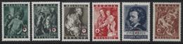 D10 - Belgium - 1944 - OBP 647/652 MNH - Red Cross - Ungebraucht