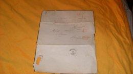 LETTRE ANCIENNE DE 1840..CACHETS DONT ROUGE BUREAU GENERAL PP POUR PROVINS... - Postmark Collection (Covers)