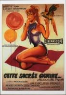 """CPM. > Cinema > Affiches Sur Carte > Brigitte BARDOT - """" Cette Sacrée Gamine 1956 """" - TBE - Posters On Cards"""