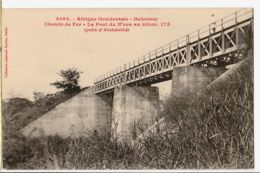 Af060 Peu Commun A.O.F DAHOMEY Près ATCHERIBE Km 175 PONT Chemin Fer N'ZOU à BECH Institutrice St Chamas- FORTIER 3063 - Benin