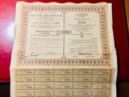 S.A.  Du  GAZ  De  BEYROUTH -------Obligation  5%  De  500 Frs - Electricity & Gas