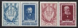 D11 - Belgium - 1952 - OBP 898/899 MH - Letterkundigen Verhaeren Conscience - Licht Roestplekje In Tanding - Belgien