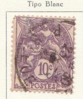 PIA - FRA - 1927-30 : Francobollo Precedente Tipo Blanc  - (Yv 233) - 1900-29 Blanc