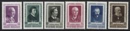 D11 - Belgium - 1952 - OBP 892/897 MH & MNH Mixed - Letterkundigen - Belgien