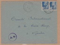 ENVELOPPE TIMBRE 1943 POSTES AUX ARMEES VOIR TIMBRES ETCACHETS - Algerien (1924-1962)