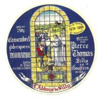 ETIQUETTE De FROMAGE..CAMEMBERT Fabriqué En NORMANDIE..Pierre THOMAS, Abbaye De SILLY En GOUFFERN ( Orne 61)..MOINE - Kaas