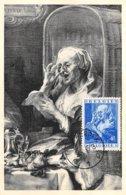 1949 .carte Maximum .belgique .102633 .jacob Jordaens .cachet Antwerpen . - 1934-1951
