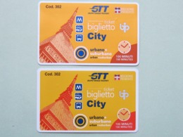 Biglietti Torino GTT (Gruppo Torinese Trasporti),  Italia, Lieve Differenza Di Colore  (B_36) - Tramways