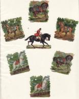 Découpis   Lot De 7    Jockeys, Chevaux, équitation       5.5 X 5 Cm Le Plus Grand - Découpis