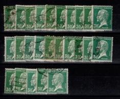 Pasteur YV 174 Oblitere En 25 Exemplaires Sans Défauts Cote 12,50 Euros - 1922-26 Pasteur