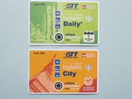 Biglietti Torino GTT (Gruppo Torinese Trasporti),  Italia, Biglietto Giornaliero E Di Corsa Semplice (B_37) - Tramways
