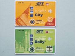 Biglietti Torino GTT (Gruppo Torinese Trasporti),  Italia, Biglietto Di Corsa Semplice E Giornaliero (B_38) - Tram