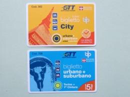 Biglietti Torino GTT (Gruppo Torinese Trasporti),  Italia, Biglietto Di Corsa Semplice E Biglietto 5 Corse (B_39) - Tram