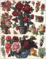 Découpis   Lot De 16    Fleurs       14 X 9.5 Cm Le Plus Grand - Découpis