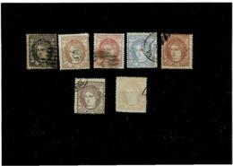 Spagna ,usati (7 Pezzi) ,buona Qualita - 1870-72 Reggenza