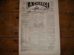 - JOURNAL, LA CHARGE Du 20 Octobre 1889, 2 Pages, BE - Periódicos