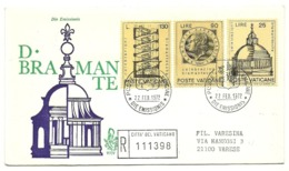 1972 - Vaticano 515/17 Donato Bramante      FDC - Celebrità