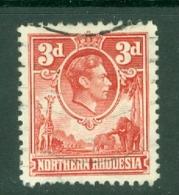 Northern Rhodesia: 1938/52   KGVI     SG35   3d  Scarlet   Used - Rhodesia Del Nord (...-1963)