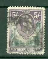 Northern Rhodesia: 1938/52   KGVI     SG43   5/-     Used - Rhodésie Du Nord (...-1963)