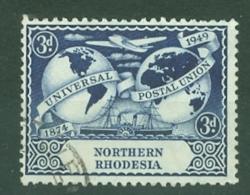 Northern Rhodesia: 1949   U.P.U.  SG51    3d   Used - Northern Rhodesia (...-1963)