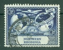 Northern Rhodesia: 1949   U.P.U.  SG51    3d   Used - Rhodésie Du Nord (...-1963)