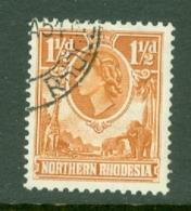 Northern Rhodesia: 1953   QE II     SG63    1½d     Used - Rhodésie Du Nord (...-1963)