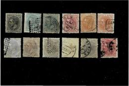 Spagna ,usati (12 Pezzi) ,ottima Qualita - 1875-1882 Regno: Alfonso XII