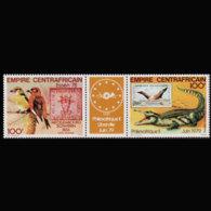 C.A.R. 1978 - Scott# C201a Phlexafrique Set Of 2 MNH - República Centroafricana