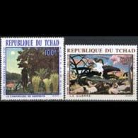 CHAD 1968 - Scott# C43-4 Rousseau Paintings Set Of 2 LH - Tchad (1960-...)