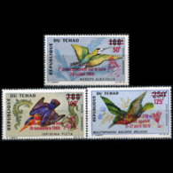 CHAD 1970 - Scott# C67-9 Birds Opt. Set Of 3 MNH - Tchad (1960-...)
