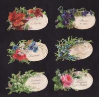 Découpis   Lot De 6    Fleurs Et Oeufs       7.9 X 4.7 Cm Le Plus Grand - Découpis
