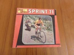 """Album Panini Cyclisme """" Sprint 71 """" Incomplet 32 Vignettes - Edition Française"""