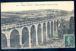 Cpa Du 22 Etables Viaducs Des Pourris , L' Arrivée Du Train  LZ63 - Etables-sur-Mer