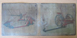 Plaque Publicitaire Ancienne En Tôle Peinte Des Machines Agricoles OSBORNE - 24,8 X 10,8 Cm - Agriculture