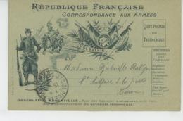 GUERRE 1914-18 - Carte De CORRESPONDANCE AUX ARMEES - St Blaise - SIDI BRAHIM écrite à NIMES En 1914 - Guerre 1914-18