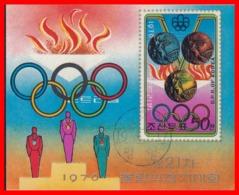 KOREA DEL NORTE HOJITA OLIMPIADAS AÑO 1976 - Corea Del Norte