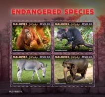 MALDIVES 2019 - Tasmanian Devil, Endangered Sp. Official Issue - Sonstige