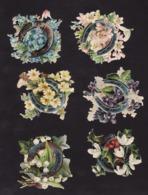 Découpis   Lot De 17    Fleurs Et Fer à Cheval       7.8 X 7.2 Cm Le Plus Grand - Découpis