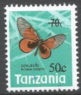 Tanzania. 1979 Surcharge. 50c On 70c MNH. SG 269 - Tanzania (1964-...)