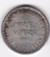 Nb_ Deutsches Reich - 3 Mark - 1924 J  -  Kursmünze (29) - [ 3] 1918-1933 : Weimar Republic