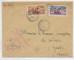 COTE DES SOMALIS - 1957 - ENVELOPPE Du COMMANDANT DES FORCES ARMEES De DJIBOUTI => NIMES - Lettres & Documents