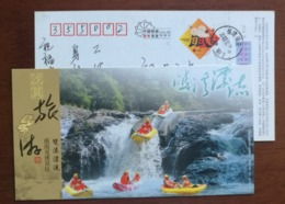Double Streams Rafting,waterfall,China 2008 Shaxian Tourism Advertising Pre-stamped Card - Holidays & Tourism