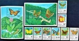 # British Virgin Islands 1991**Mi.729-38  Butterflies , MNH [20;29] - Schmetterlinge