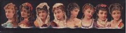 Découpis   Lot De 8    Femmes       4.3 X 2.8 Cm Le Plus Grand - Immagine Tagliata