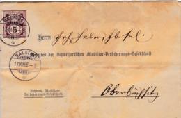 Brief Von Balsthal Nach Oberbuchsiten, Rechnung Der Schweizerischen Mobiliar Versicherun. Zu:60A / Mi: 52x - 1882-1906 Armoiries, Helvetia Debout & UPU