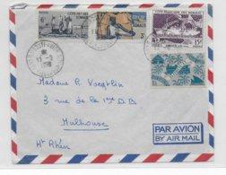 COTE DES SOMALIS - 1959 - ENVELOPPE Par AVION De DJIBOUTI => MULHOUSE - Lettres & Documents