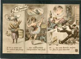 CPA - Illustration - A L'ARRIERE, Y'en A Aussi Qui Se Collent Des Pains... Qui Affrontent Stoïquement Les Bals Et ... - War 1914-18